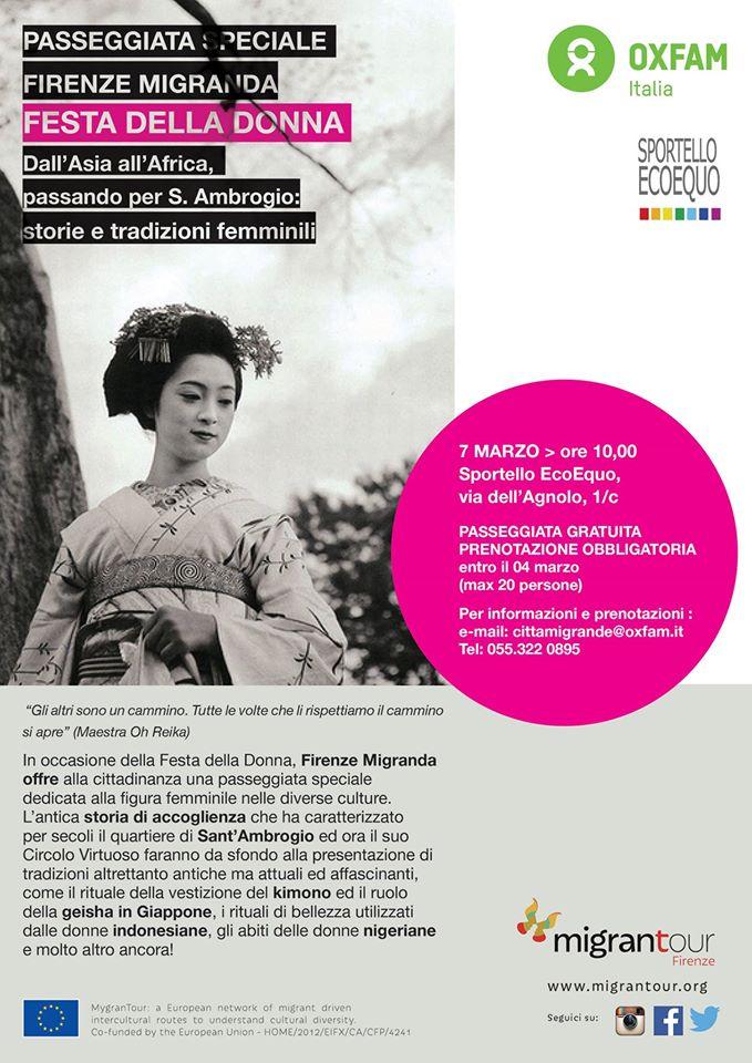 Firenze Migranda – passeggiata interculturale  speciale per la Festa della Donna