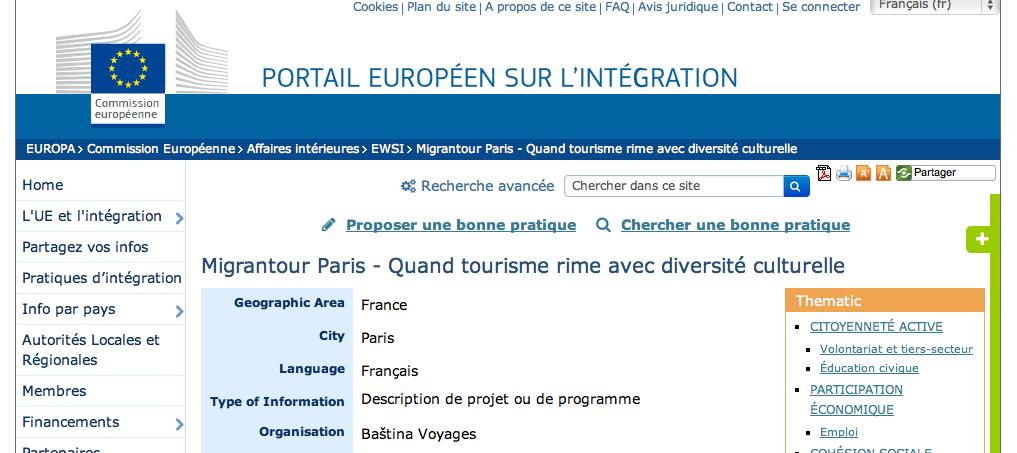 Migrantour Paris – Quand tourisme rime avec diversité culturelle